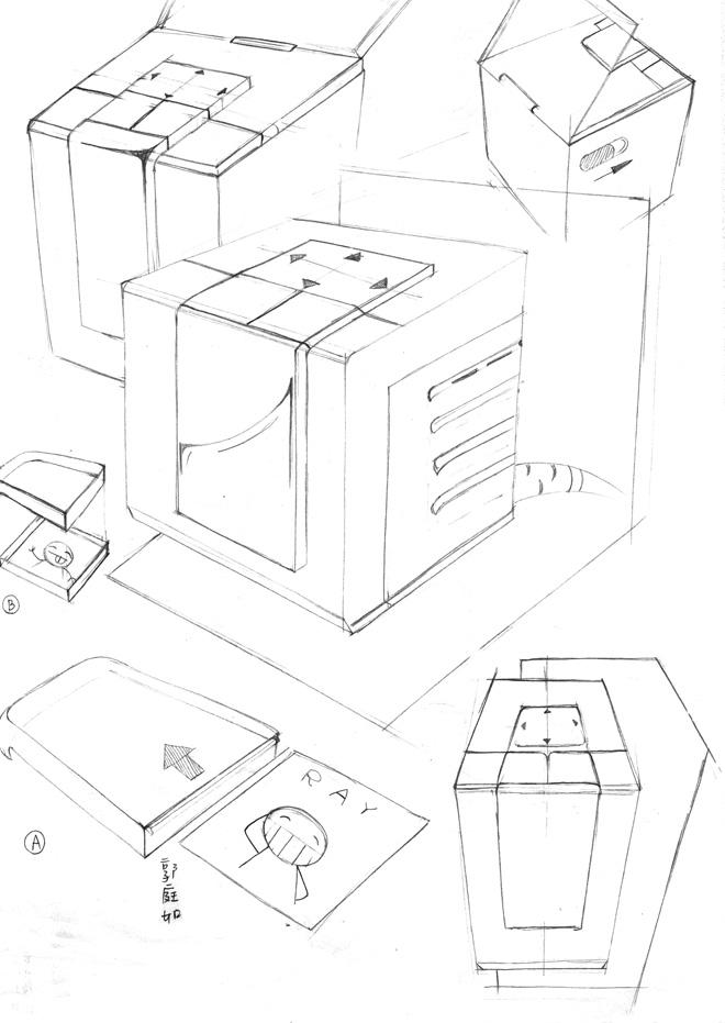 手绘教室立体图