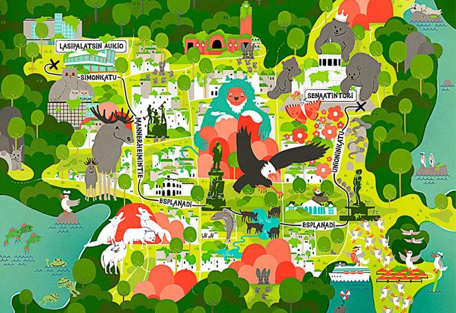 英国地图手绘家jenni sparks   就用自己独特的涂鸦方式  让