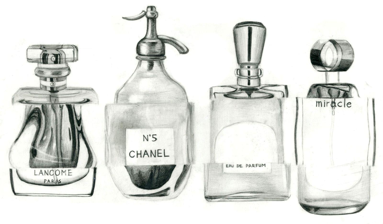 香水图片大全手绘