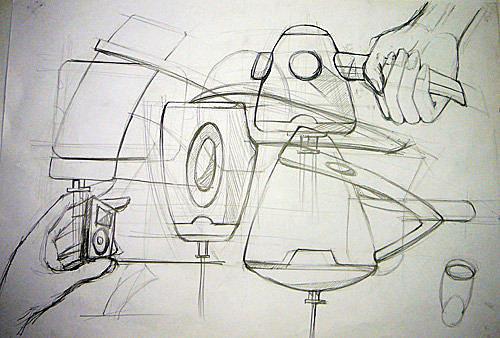 简笔画 手绘 素描 线稿 500_338